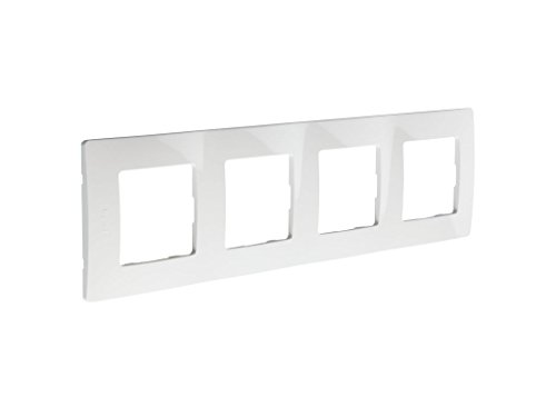 Legrand 397871 Marco Simple para 4 Interruptores, Blanco