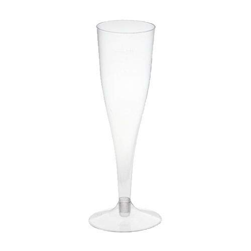 tradingbay24 Stiel-Gläser für Sekt, PS 0,1 l Ø 5 cm, 17,5 cm glasklar tbU95416 Sektgläser Einweggläser, 100 Stück
