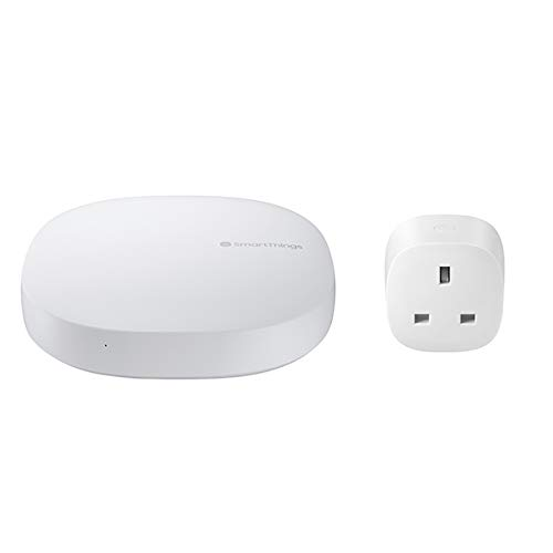 SmartThings Hub (V3) and Smart Plug, Wirelessly Connect Your Smart Devices, Zigbee, Z-Wave and Wi-Fi