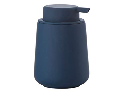ZONE Denmark 362048 NOVA ONE Dispensador de Jabón con Soft-Touch de porcelana, Ø 8 cm A 11,5 cm, 0,25 l - Royal Blue Azul Oscuro Pastel