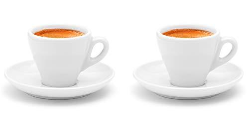 Luxpresso dickwandige Espressotassen »Italia«, weiß aus Porzellan - 2 Stück