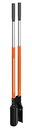 SIMPOLE Hammering Post Hole Digger - Sliding Ramming Rails to DIG Easily, Quickly, ACCURATELY