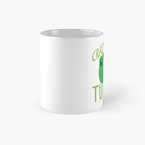 Crazy About Turtles Classic Mug - 11 Ounce For Coffee, Tea, Chocolate Or Latte.