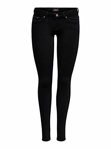 ONLY Damen Jeans Hose ONLCoral Life 15233217 Black Denim 27/30
