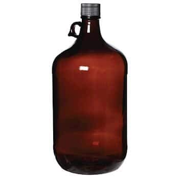 Cole-Parmer AO-35204-58 Cole-Parmer APC1300 Glass Jug, Level 1, Amber, 4 L; 6/Cs (Pack of 6)