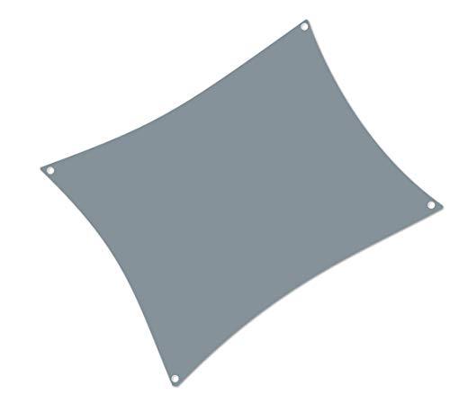 ALOHA Sonnensegel mit UV Schutz wasserabweisend Windschutz wetterschutz Garten und Terrasse (Grau, Rechteck 2x3m)