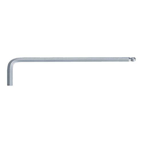 KS Tools 151.2103 Kugelkopf-Innensechskant-Winkelstiftschlüssel, lang, 3mm, farblos