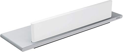 KEUCO Duschablage aus Aluminium, silber eloxiert, inkl. Glas-Abzieher, weiß, 10x32,8x6,3cm, Wandmontage in der Dusche, Duschregal, Edition 400