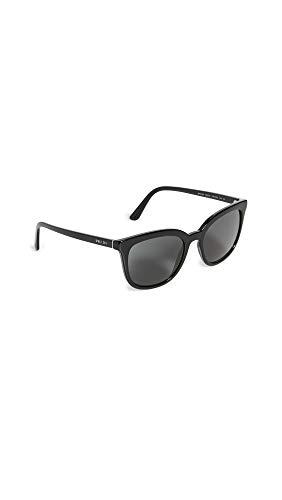 Prada Women's Classic Square Sunglasses, Black, One Size