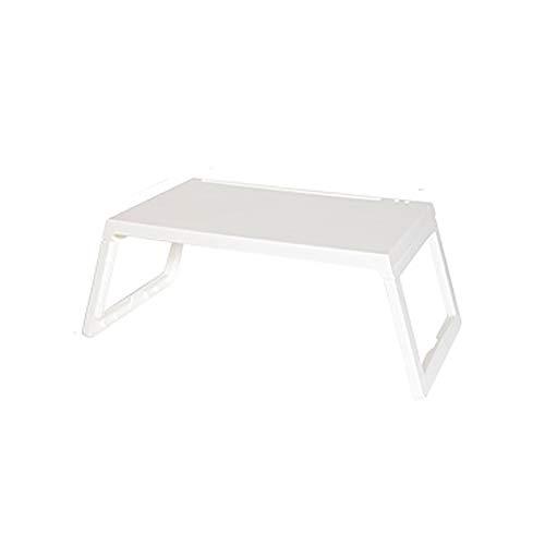Opvouwbaar Laptop Bed Tray Table, Lap Desk Stand, multifunctionele Lap Tablet met iPad slot, voor het bekijken van de film op bed of als Personal Eettafel,White