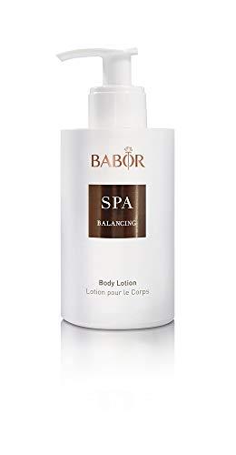 BABOR SPA Balancing Body Lotion, leichte Körperlotion mit einer Duftkomposition aus Bergamotte, Zedernholz und Vanille, mit Arganöl, vegan, 200ml