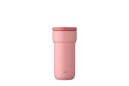 Mepal Ellipse 375 ml-Nordic pink – Kaffee to go Thermobecher – teebecher-auslaufsicher – thermotasse Edelstahl – passt in nahezu alle Getränkehalter