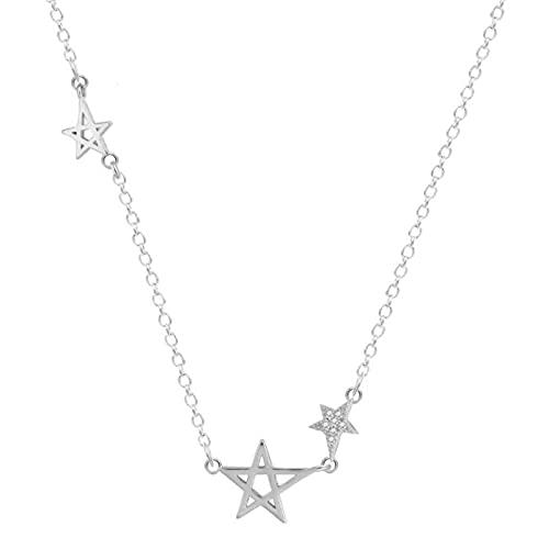 ShFhhwrl Collar Collares Pendientes Femeninos De Estrella De Cinco Puntas De CristalExquisitoPopular