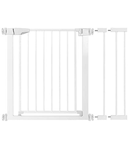 Puerta De Perro Pet, 37.8 '' - 40.6 '' Auto Cerrar Puertas De Seguridad para Niños/Perros, Fácil Caminata A Través De La Puerta De Metal Infantil con 5,5 '' Y 2.75 '' Extensión