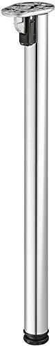 Gedotec Metall Tischbeine klappbar Tischfüße verchromt Möbelfüße höhen-verstellbar - Modell Rondella | Höhe 705 mm | Fußrohr Ø 50 mm | 1 Stück - Klapptisch-Beine zum Schrauben für Tischplatten