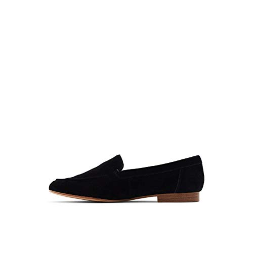 ALDO Women's Joeya Slip-On Loafer, Black Suede, 9