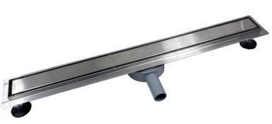 WINSOON 360° Edelstahl Duschrinne Bodenablauf Duschrinne Ablaufrinne rechteckig mit abnehmbarer Abdeckung Quick Drainage Anti-Verstopfung (600mm)