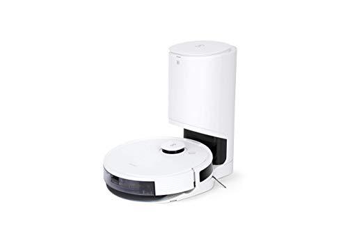 ECOVACS DEEBOT N8 PRO+ Robot Aspirapolvere con Stazione di Svuotamento Automatico Funzione Pulire, Evitamento Ostacoli 3D, Navigazione con Mappatura Laser, App, Google Home e Alexa