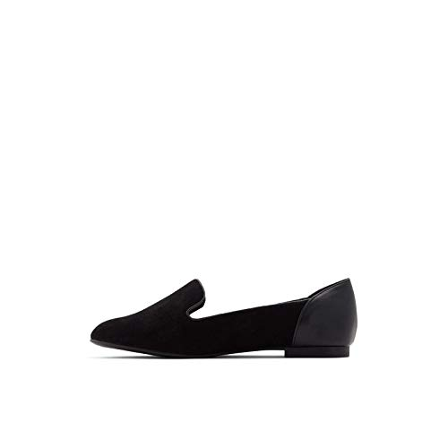 ALDO womens Kappa Flat Loafer, Black, 8.5 US