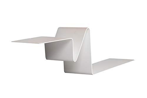 Irodisseny Libreria galleggiante dal design moderno. Mensola da parete in alluminio per soggiorno, camera da letto, cucina, bagno, terrazza. Qualità e design. Resistente e pratico.