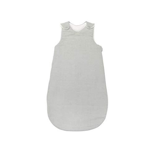 Nattou PURE Ganzjahres-Schlafsack aus 100% Baumwolle mit Reißverschluss und Druckknöpfen, 70cm, Grau, 998109
