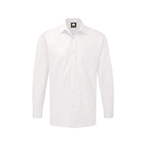 ORN Werkkleding 5410 Het Essential L/S Overhemd, Wit, 23 Size