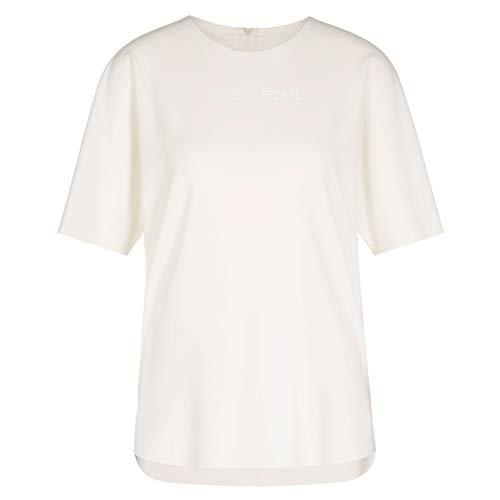 Marc Cain Sports Damen T-Shirt, Weiß (Off-White 110), 44 (Herstellergröße: 6)