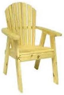 Rustic Natural Cedar Furniture 0400405P Pine Dining Chair (Partially Assembled) Furniture, Natural
