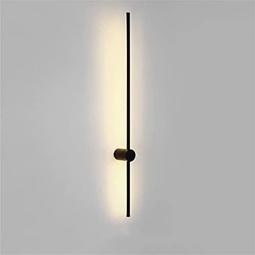 Sunsign iluminación for Pared de tira larga de luz de pared lineal LED moderna, Diseño creativo giratorio Fondo de la sala de estar...