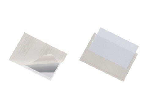 tasca adesiva con inserto in cartoncino per cartelle Pocketfix A4 f.to A4 trasparente DURABLE 809619 raccoglitori confezione da 25 pezzi