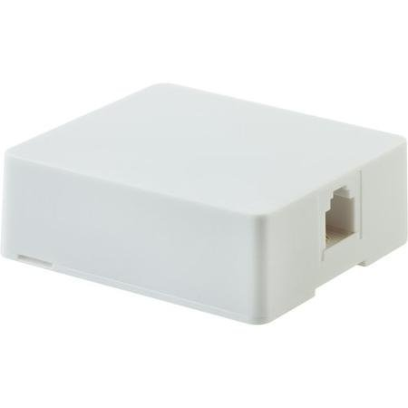 GE Surface Mount Phone Jack, White: (2 Pack)