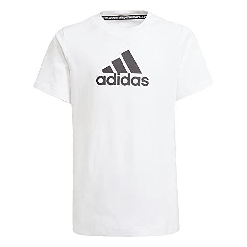 adidas BOS Tee, Maglietta Bambino, Bianco Nero, 910A
