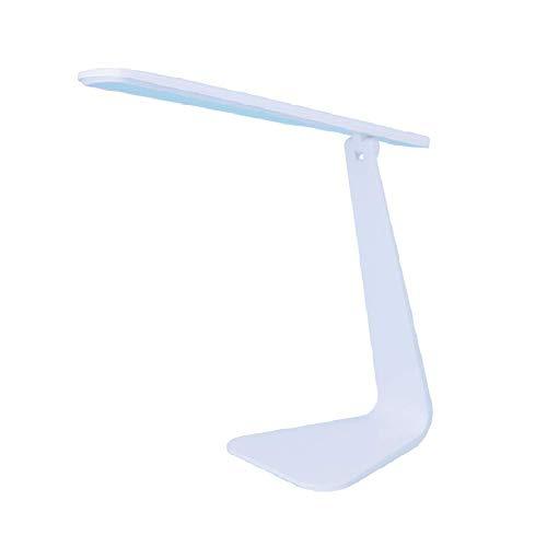 NZDY Lámparas de Escritorio Portátiles Usb Led para Estudio, Iluminación de Escritorio de Luz Blanca Plegable Regulable Táctil para Oficina [Dormitorio] Dormitorio [Cabecera] 6W,a
