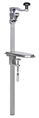 Beeketal 'BDÖ56' Profi Gastro Tischdosenöffner für bis zu 50 cm hohe Dosen, mit Schneidemesser aus gehärtetem Stahl und Tisch Befestigungszwinge, Dosenöffner mit manueller Handkurbel und Drehknauf