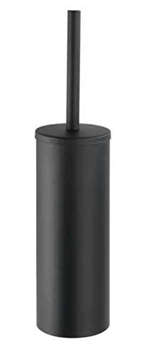 WENKO Turbo-Loc® Edelstahl Toilettenbürste Orea Black Matt geschlossen