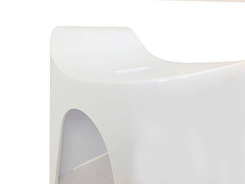 シンカテックヒューバス風呂椅子H25座面高さ25cmホワイトHU-W