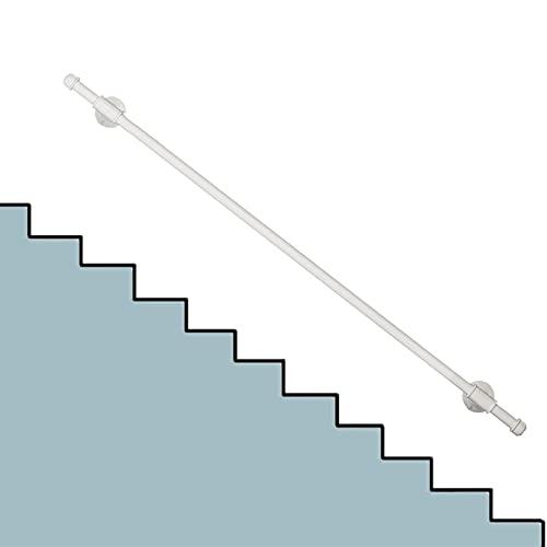 Pasamanos Escalera Pasamanos de Metal Blanco para Rampa de Escalones Exteriores, Pasamanos de Escalera Antideslizante de 3.2ft/5ft/6.5ft/10ft/12f con Kit Completo (Size : 0.8m(2.5ft))