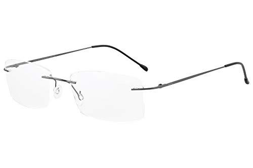 SHINU Randloser Titanrahmen Blaulichtfilter Computerbrille Leichte Brille fuer Maenner Damen-ANB1024