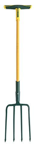 Fiskars 438302 Horca para cavar 4 dientes cuadrados 30 pro