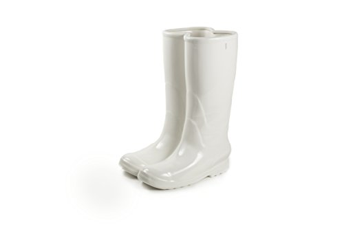 SELETTI 36cm de Alto, Porcelana Rainboots–Paragüero, Color Blanco