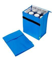 Eco vriendelijke geïsoleerde mini-koeltas voor snacks, sandwich, drinkschool of werk - 28 x 20 x 14 cm opvouwbare lunchkoeler, 28 x 20 x 14cm Blauw
