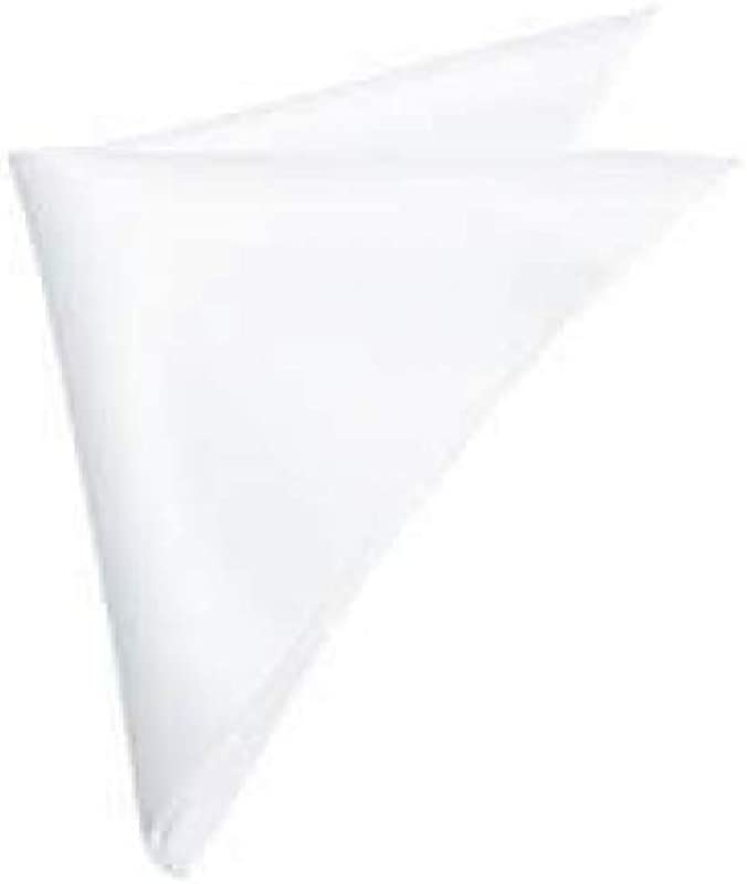 LA LINEN AFFAIRS White Handkerchiefs Cotton 100 Cotton Pack Of 6 Classic Hankies Solid ColorNice Gift For Gentlemen Grandfathers Fathers Or Anyone Who Enjoys Classic Hankies