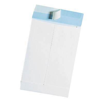 100Mail media buste Kraft, a soffietto B4/senza finestra/Pieghevole larghezza 4,0cm/autoadesivo/bianco
