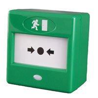 D6C - FULLY KEY RESETTABLE MANUAL FIRE CALL POINT GREEN EMERGENCY DOOR RELEASE by Unknown