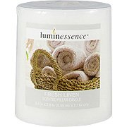 Fresh Linen Candle - Scented Pillar Candle, 1 candle,(Luminessence Candles)