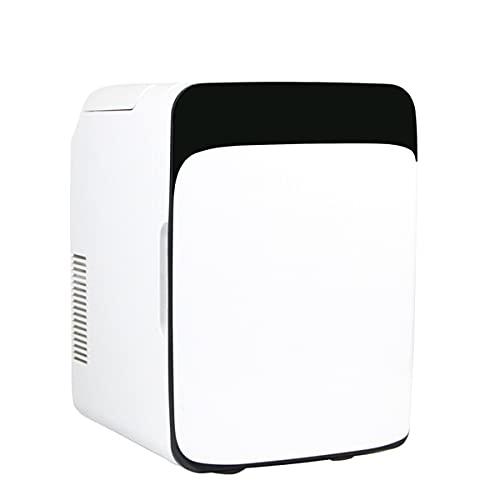 Fhdisfnsk 10L Mini Refrigerador Portable Más Cálido, Cuidado de La Piel Nevera Aspecto Elegante Refrigerador Compacto, Ligero Negro Belleza Nevera para El Dormitorio Oficina de Coches