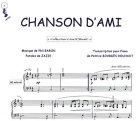 Partition : Chanson d\'ami - Piano et paroles