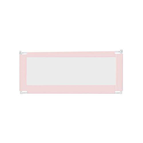 QIANDA Barrera Cama Niño Barandas para Camas For El Bebé/Niño Anti-caída Big Bed 1,8-2 M Deflector Cama Bar Universal, 3 Colores (Color : Pink, Size : 1.2m)