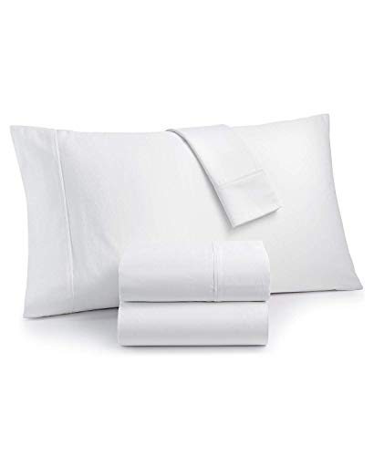 Charter Club Sleep Luxe 700 Thread Count 100% Egyptian Cotton Dobby Dot 4 Piece Queen Sheet Set White