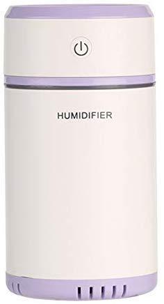 Guajave Pullable Noche Luz Humidificador Aire Purificacion Hidratante Máquina Coche Dormitorio Atomizador Pulverizador - Morado